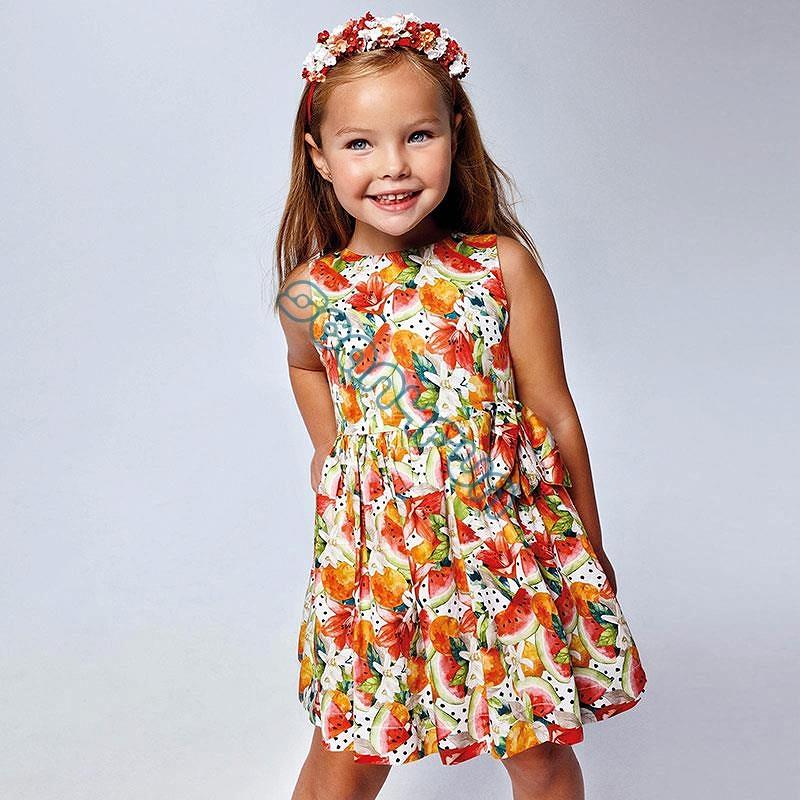 Mayoral Sukienka dziewczęca na szelkach 3929-085